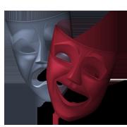 Immagine che rappresenta le due maschere tipiche del teatro